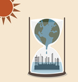 World is melting and flood over metropolis in hour vector image