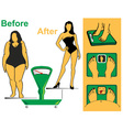 before and after vector image