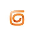 abstract spiral form letter g shape symbol design vector image vector image