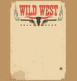 american cowboy western poster for text vector image vector image