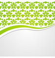 background with a green floral header vector image vector image