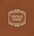Background with a pattern vintage style with frame vector image vector image