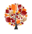Beautiful Autumn Tree on a White Background vector image