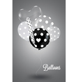Black and white composition with white balls vector | Price: 1 Credit (USD $1)