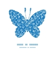 blue white lineart plants butterfly silhouette vector image vector image