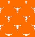 buffalo skull pattern seamless vector image vector image
