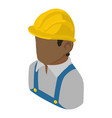builder engineer african american icon isometric vector image