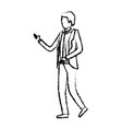 businessman faceless in suit silhouette blurred vector image