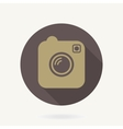 Camera Flat Icon With Long Shadow vector image vector image