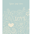 Card with flowers and butterflies floral pattern vector image vector image
