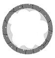 Circle pattern card vector image vector image