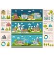 City Life Infographics vector image