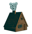 classic vintage camping wooden villa cottage vector image