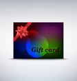Colorful gift card with ribbon vector image