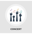 Concert flat icon vector image vector image