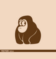 cute ape logo vector image vector image