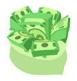 dollars bag icon isometric style vector image