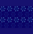 drawing with geometric pattern on dark blue canvas vector image