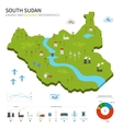 Energy industry and ecology of South Sudan vector image
