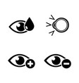 eye treatment simple related icons vector image vector image