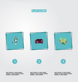 flat icons gauntlet housewife sofa and other vector image vector image