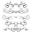 floral decorative elements vector image vector image
