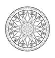 Flower mandala over white vector image vector image