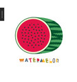 food patterns fruit watermelon postcard vector image