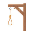 gallows with rope and noose execution death and vector image