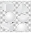 geometric shape mockup set 3d templates isolated vector image