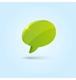 Green bubble speech symbol isolated on blue vector image vector image