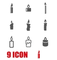 grey candles icon set vector image
