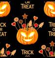 halloween seamless pattern wit pumpkins vector image vector image