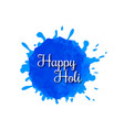happy holi design with creative typography vector image