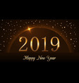 happy new year background magic gold rain and vector image vector image