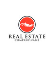 home real estate logo home real estate logo vector image vector image