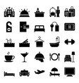hotel icon collection - silhouette vector image
