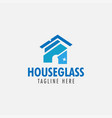 house glass logo design template isolated vector image vector image
