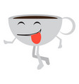 isolated happy coffee cup emote vector image