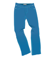 jeans blue vector image vector image