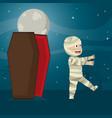 kid in halloween cartoon vector image vector image