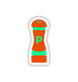label icon on design sticker collection pepper vector image vector image