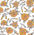 Light Seamless pattern with elegant flowers hand vector image