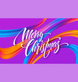 merry christmas hand drawn lettering banner design vector image vector image