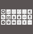 music media icon set vector image vector image