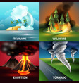 natural disasters design concept vector image