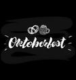 oktoberfest simple white lettering on a black vector image