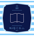 open book line icon graphic elements for your vector image