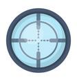 optical sightpaintball single icon in cartoon vector image vector image