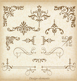 Ornamental dividers and ornaments vector image vector image